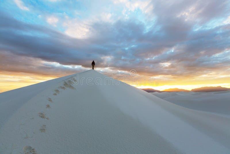 Stijging in Witte woestijn stock afbeelding