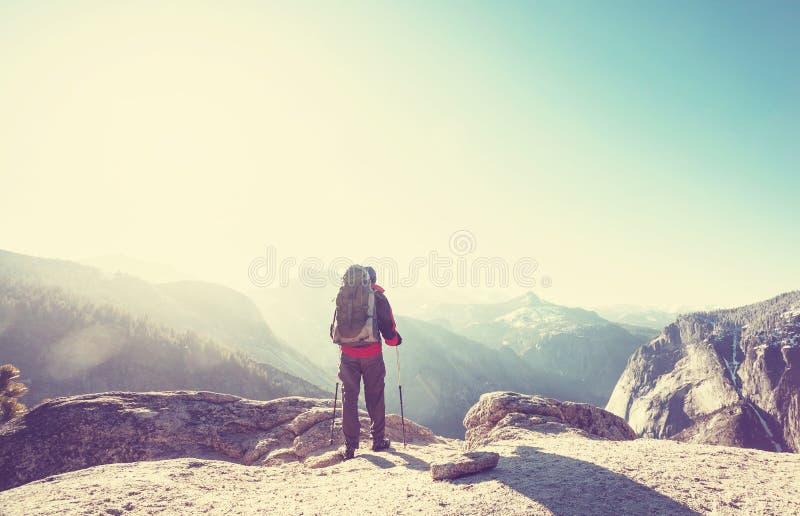 Stijging in Yosemite royalty-vrije stock afbeeldingen
