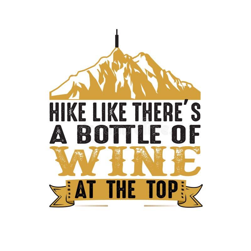 Stijging zoals daar s een fles wijn bij de bovenkant, goed voor druk stock illustratie