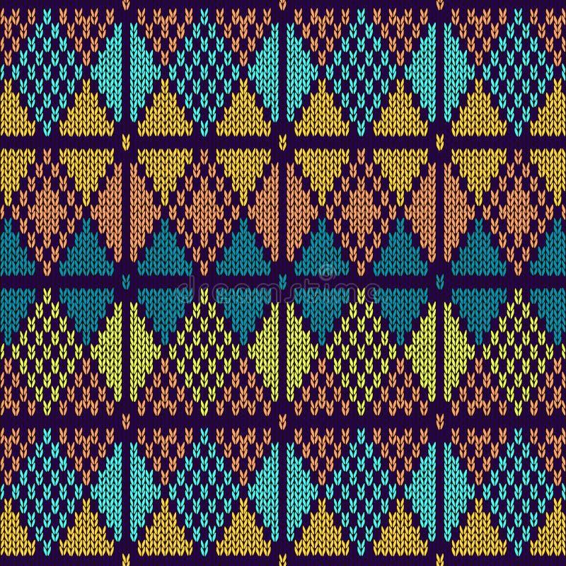 Stijl naadloos gebreid patroon stock illustratie