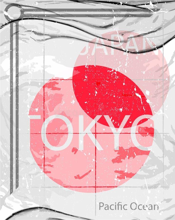 Stijl van de het ontwerpmanier van Tokyo de grafische royalty-vrije stock afbeeldingen