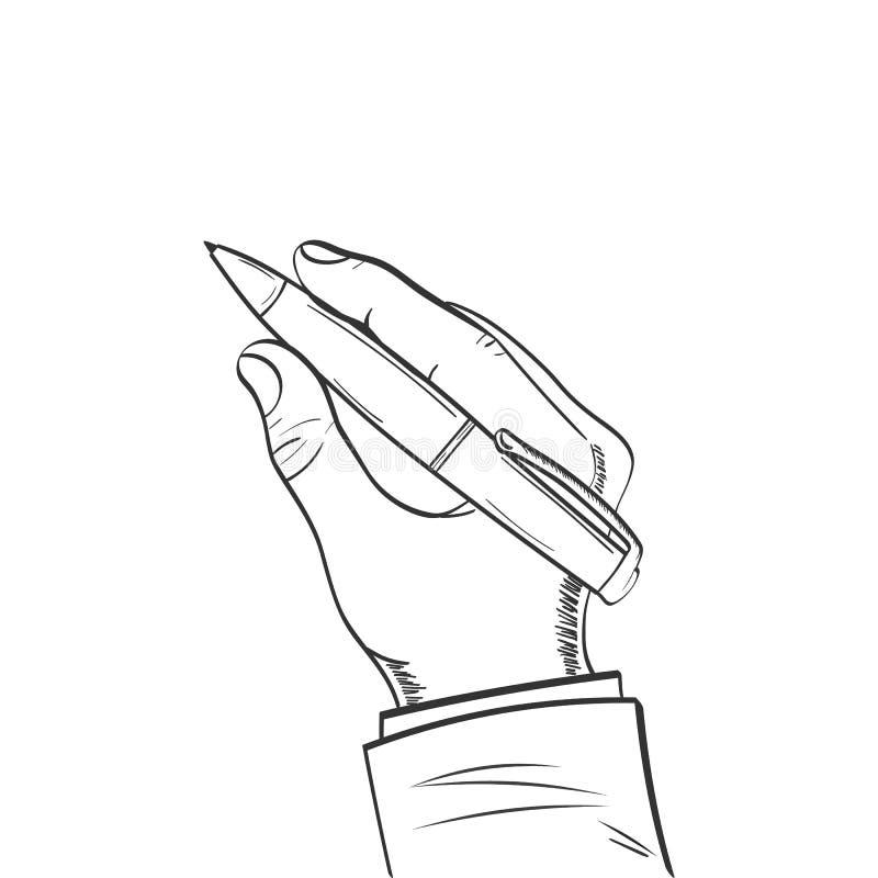 Stijl van de pen in hand tekening stock illustratie