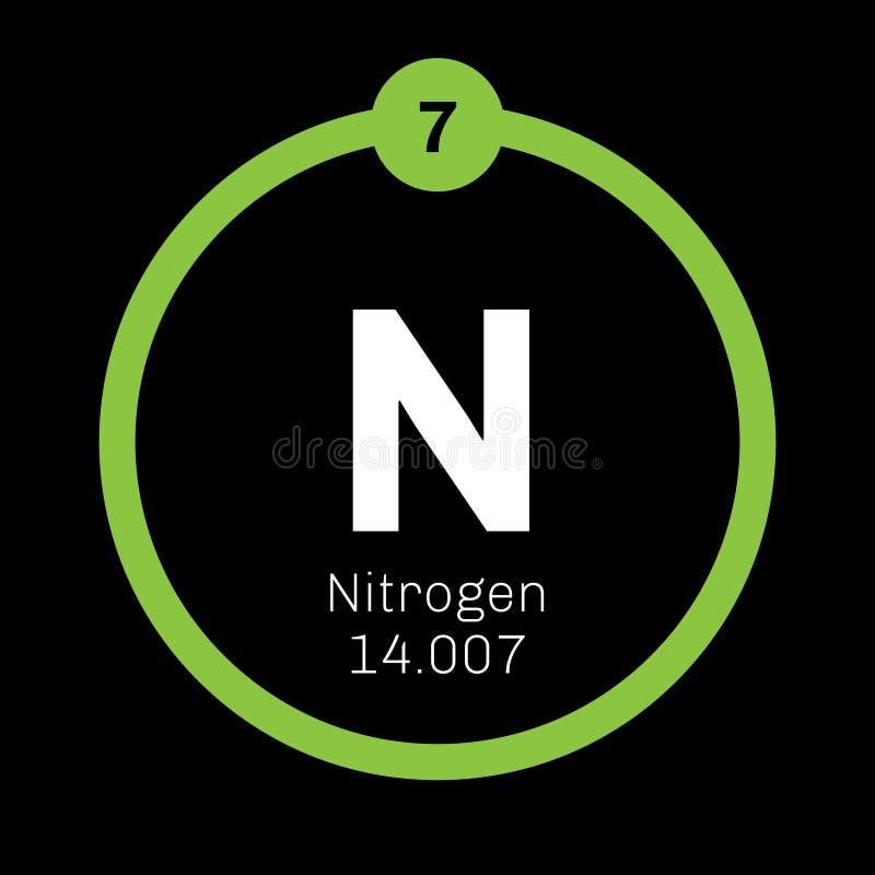 Stikstof chemisch element vector illustratie