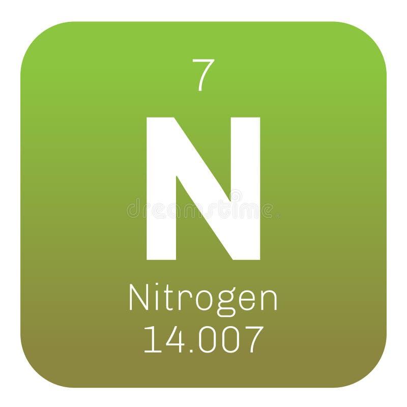 Stikstof chemisch element royalty-vrije illustratie