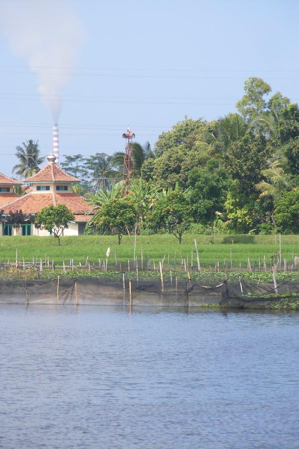 Stil dorp stock afbeelding