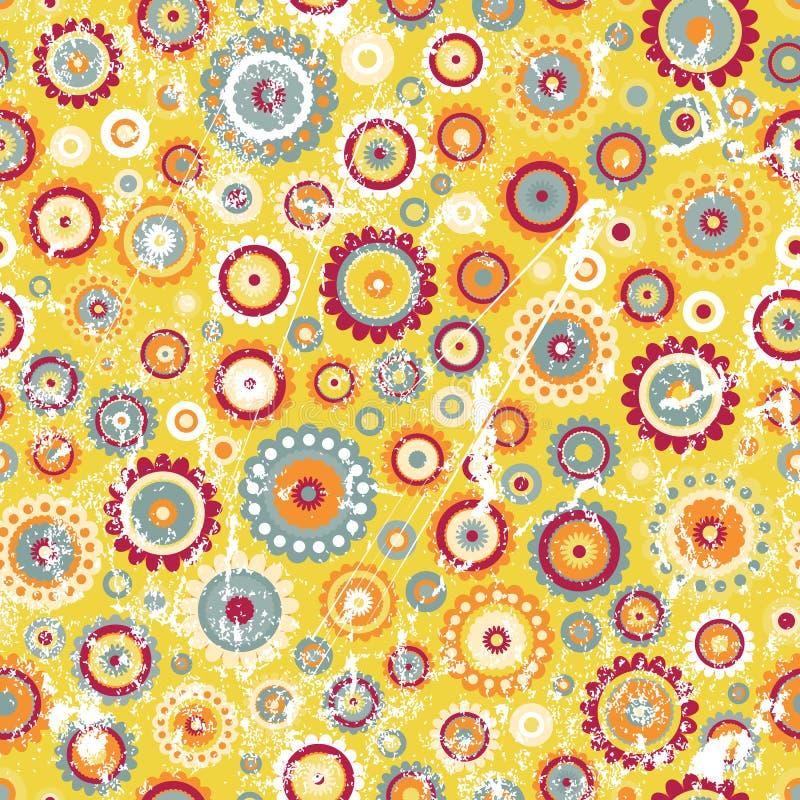 stil för blom- grunge för bakgrund seamless royaltyfri illustrationer