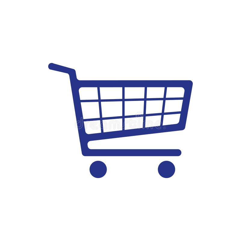 Stil för design för lägenhet för illustration för vektor för materiel för symbol för shoppingvagn arkivbild