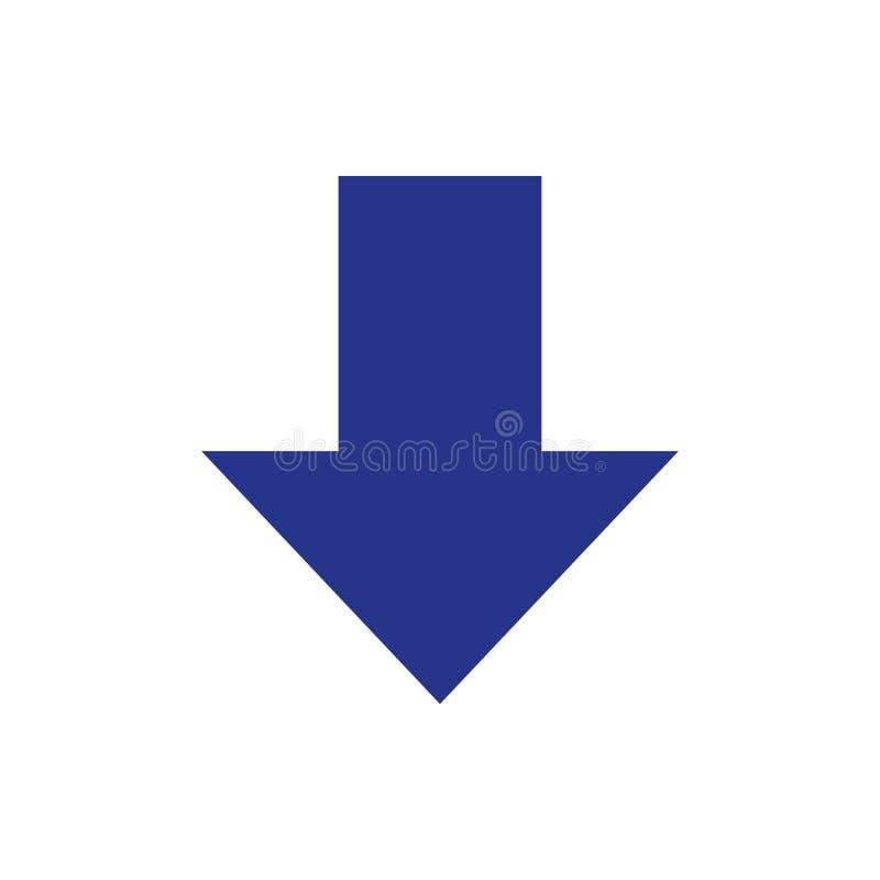 Stil för design för lägenhet för illustration för vektor för nedladdningsymbolsmateriel royaltyfria bilder