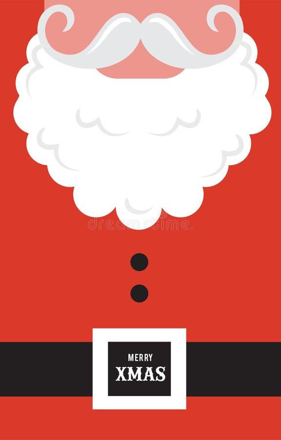 Stil för hipster för Santa Claus modekontur greeting lyckligt nytt år för 2007 kort royaltyfri illustrationer