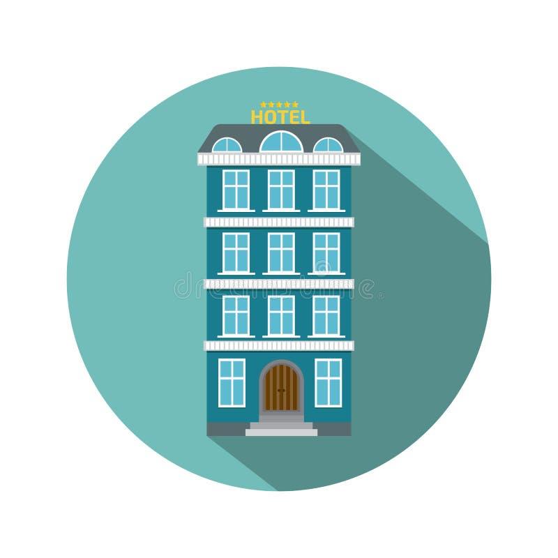 Stil för hotellsymbolslägenhet vektor illustrationer