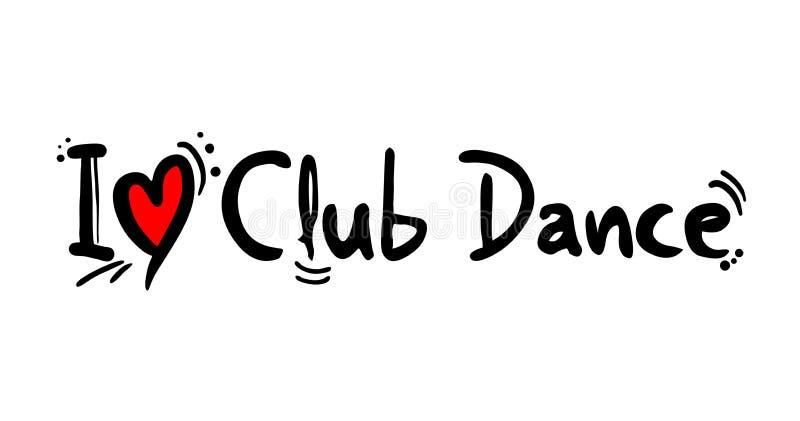 Stil för klubbadansmusik vektor illustrationer