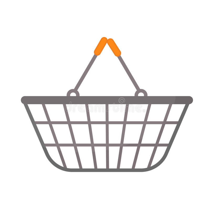 Stil för lägenhet för symbol för shoppingkorg bakgrund isolerad white baggies också vektor för coreldrawillustration stock illustrationer