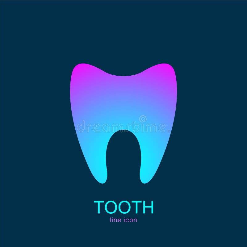 Stil för mall för design för tandvektorlogo Tand- design för kliniktandabstrakt begrepp Medicinsk logotyp, symbol, symbol stock illustrationer