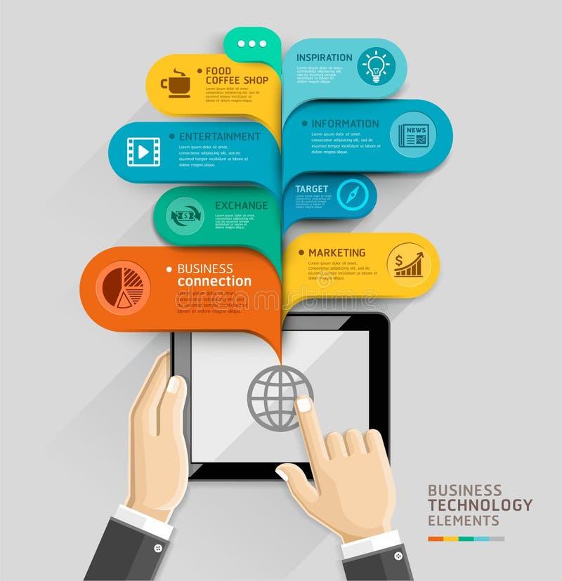 Stil för mall för anförande för affärsteknologibubbla royaltyfri illustrationer