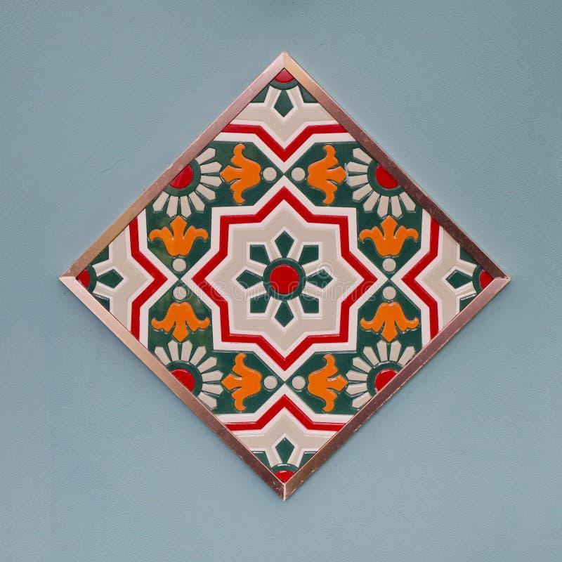 Stil för modeller för keramiska tegelplattor färgrik arkivbild