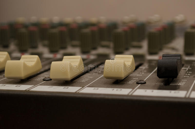stil för musik s för dj-utrustningblandare sound arkivbilder