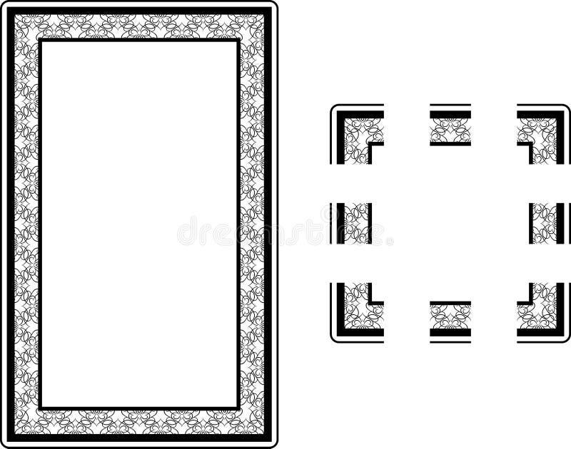 stil för nouveau för konstkantram stock illustrationer