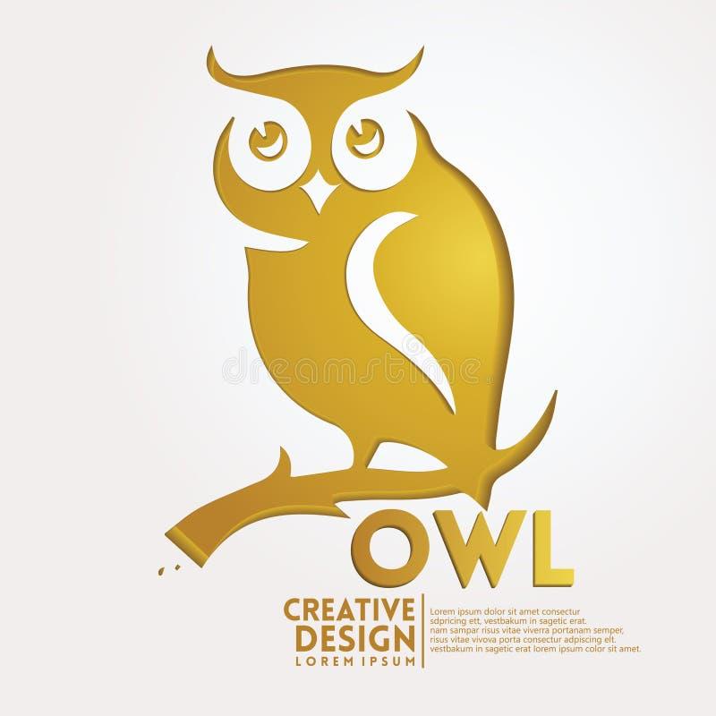 Stil för Owl Geometric pappershantverk royaltyfri illustrationer