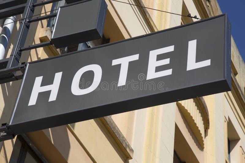 stil för tecken för hotell för byggnadsfabrik historisk royaltyfria foton