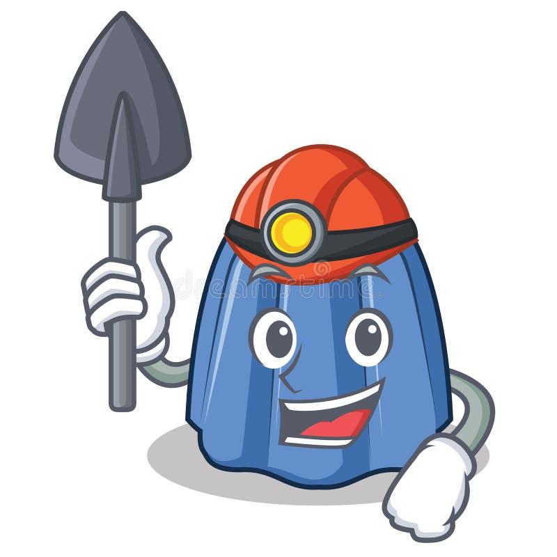 Stil för tecknad film för gruvarbetaregelétecken stock illustrationer