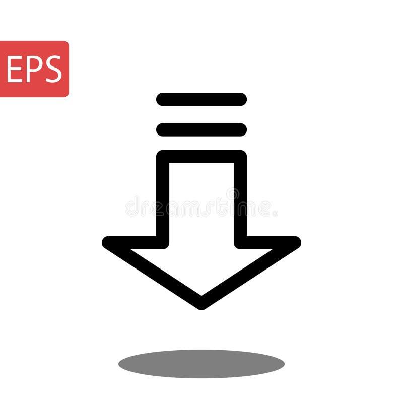 Stil som isoleras på grå bakgrund Pilsymbol för din webbplatsdesign, logo, app, royaltyfri bild