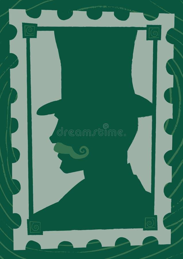 Stilbakgrund och ram för viktoriansk herre gotisk stock illustrationer