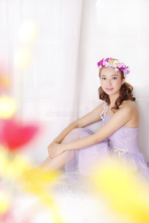 Stile adorabile asiatico di estetismo della ragazza fotografia stock libera da diritti