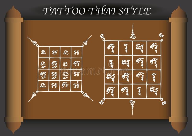 Download Stile Antico Del Tatuaggio Tailandese Illustrazione Vettoriale - Illustrazione di architettura, estratto: 56881900