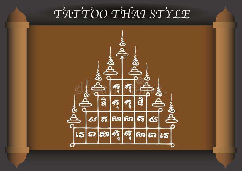Download Stile Antico Del Tatuaggio Tailandese Illustrazione Vettoriale - Illustrazione di classico, estratto: 56882160