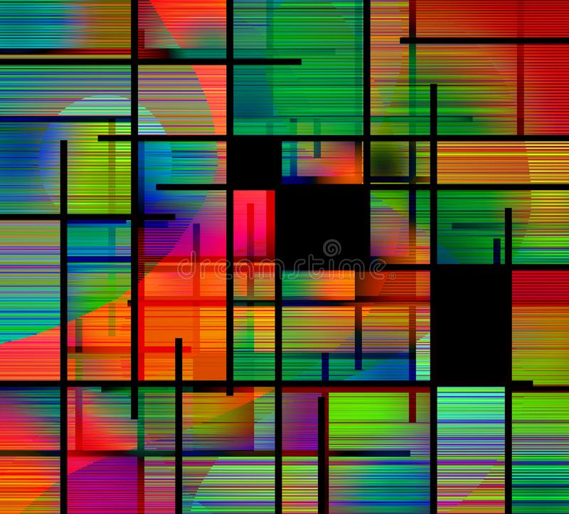 Stile astratto di Mondrian del fondo illustrazione vettoriale