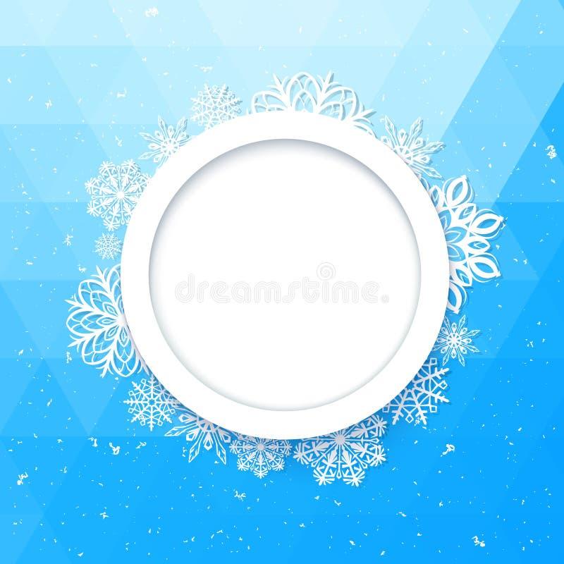 Stile astratto di Natale del fondo Bella struttura calcolata dei fiocchi di neve illustrazione vettoriale