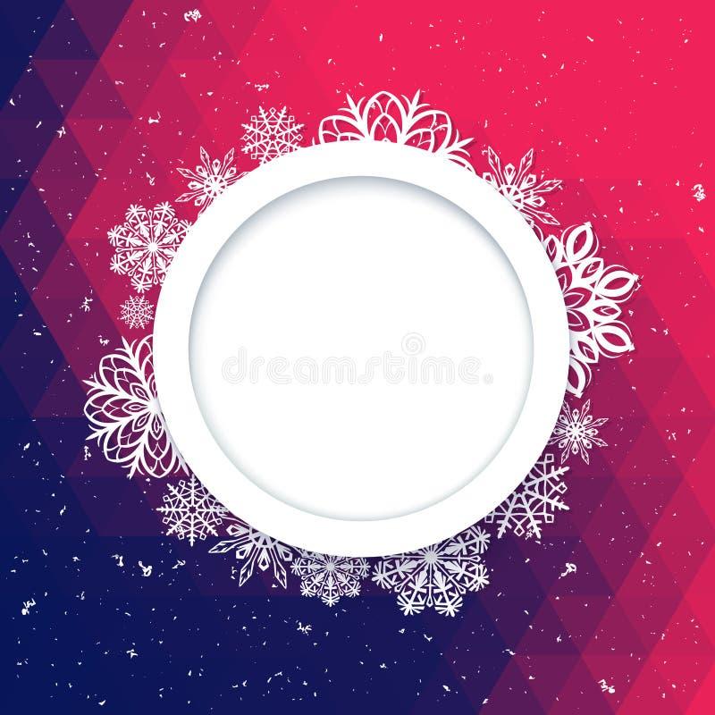 Stile astratto di Natale del fondo Bella struttura calcolata dei fiocchi di neve royalty illustrazione gratis