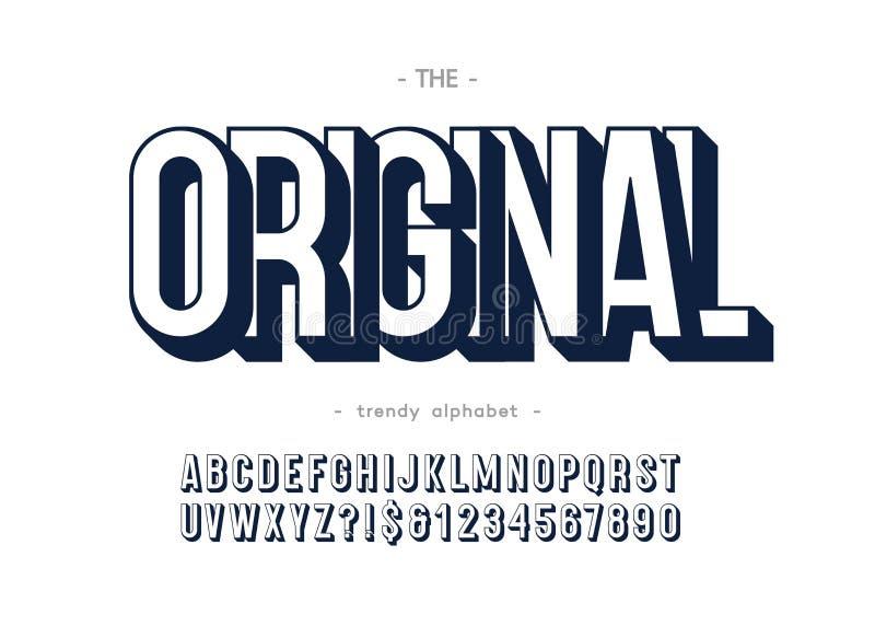 Stile audace di alfabeto d'avanguardia originale di vettore royalty illustrazione gratis