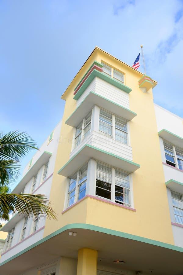 Stile Avalon di art deco in Miami Beach immagine stock