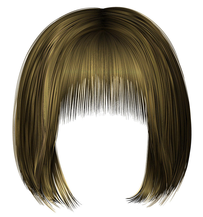 stile biondo 3d di bellezza della donna dei capelli del peso della frangia d'avanguardia del kare royalty illustrazione gratis