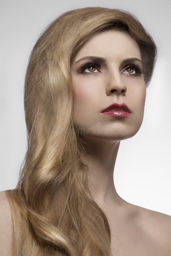 Stile capelli elegante femminile fotografia stock libera da diritti