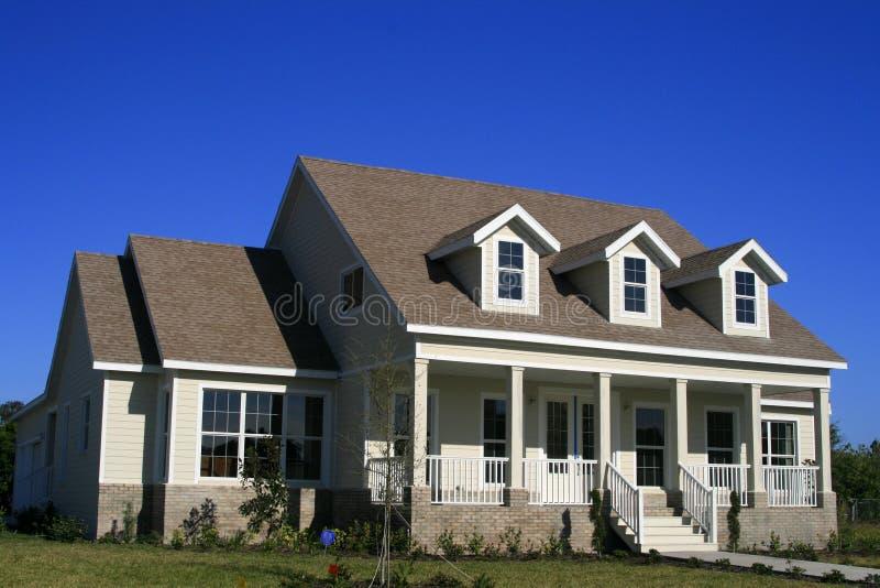 Stile casa americano del paese immagine stock immagine for Case di legno del paese del lago