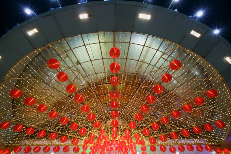 Stile cinese del bokeh del nuovo anno fotografia stock libera da diritti
