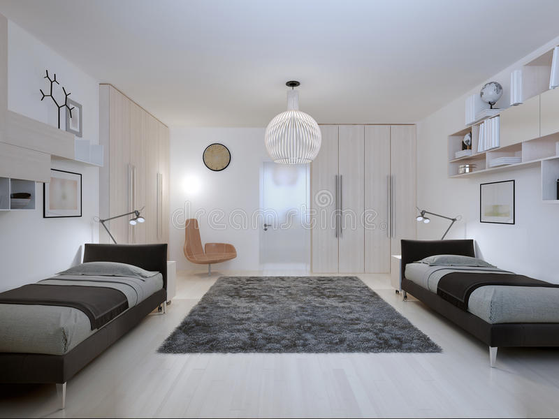 Stile contemporaneo della camera da letto degli adolescenti immagine stock immagine di headset - I segreti della camera da letto ...