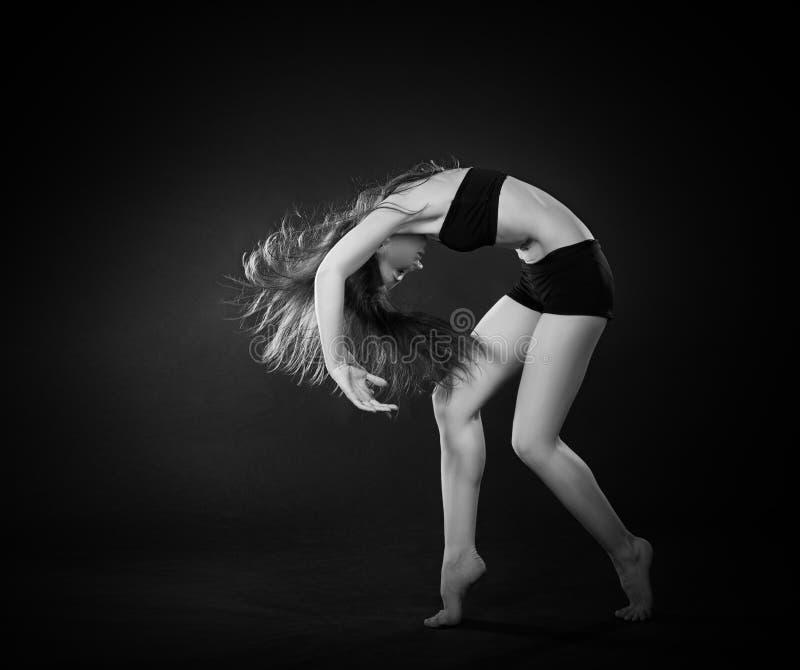 Stile contemporaneo di bello del ballerino di dancing balletto di ballo fotografia stock