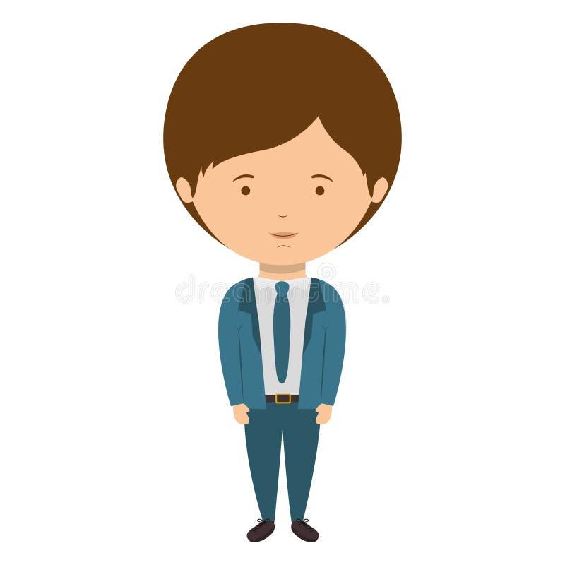 Stile convenzionale vestito uomo con il legame royalty illustrazione gratis