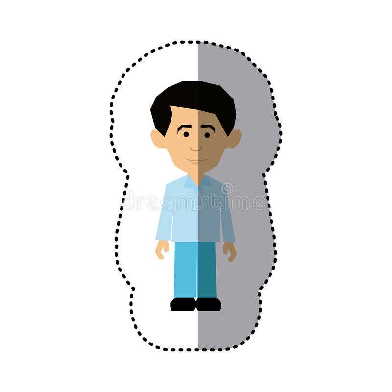 stile convenzionale vestito uomo variopinto dell'immagine dell'autoadesivo royalty illustrazione gratis
