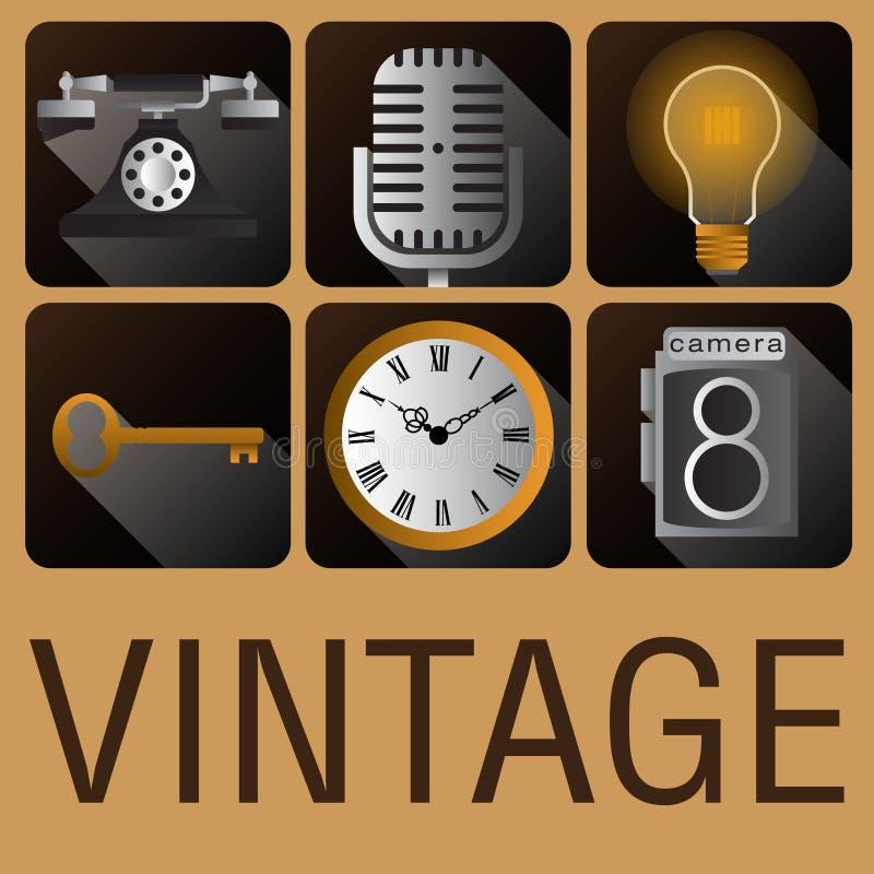Download Stile D'annata Antico Dell'icona Retro Illustrazione Vettoriale - Illustrazione di camera, annata: 56890886