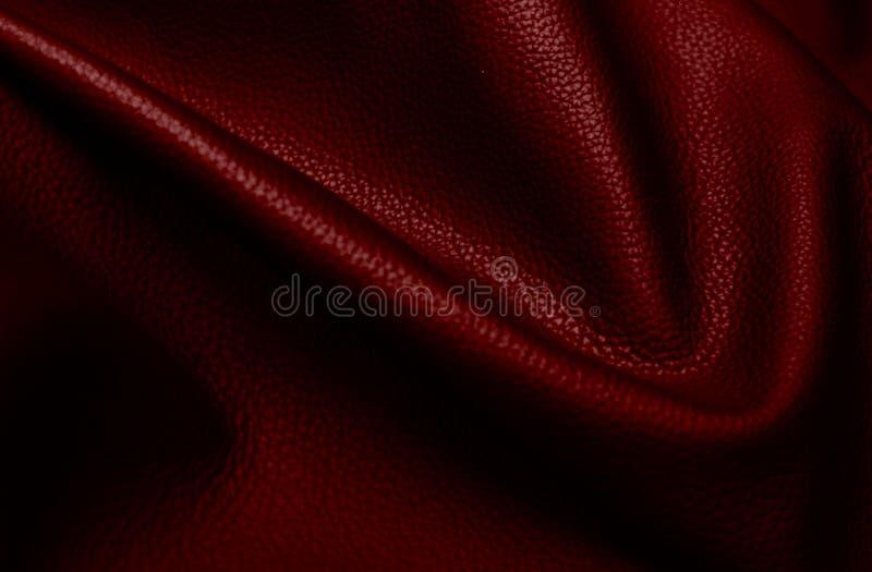 Stile d'annata del fondo di cuoio rosso di struttura per progettazione grafica fotografie stock libere da diritti