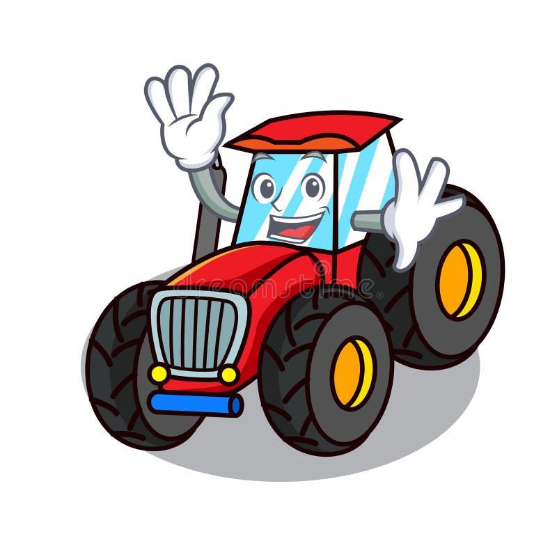 Stile d'ondeggiamento del fumetto del carattere del trattore royalty illustrazione gratis