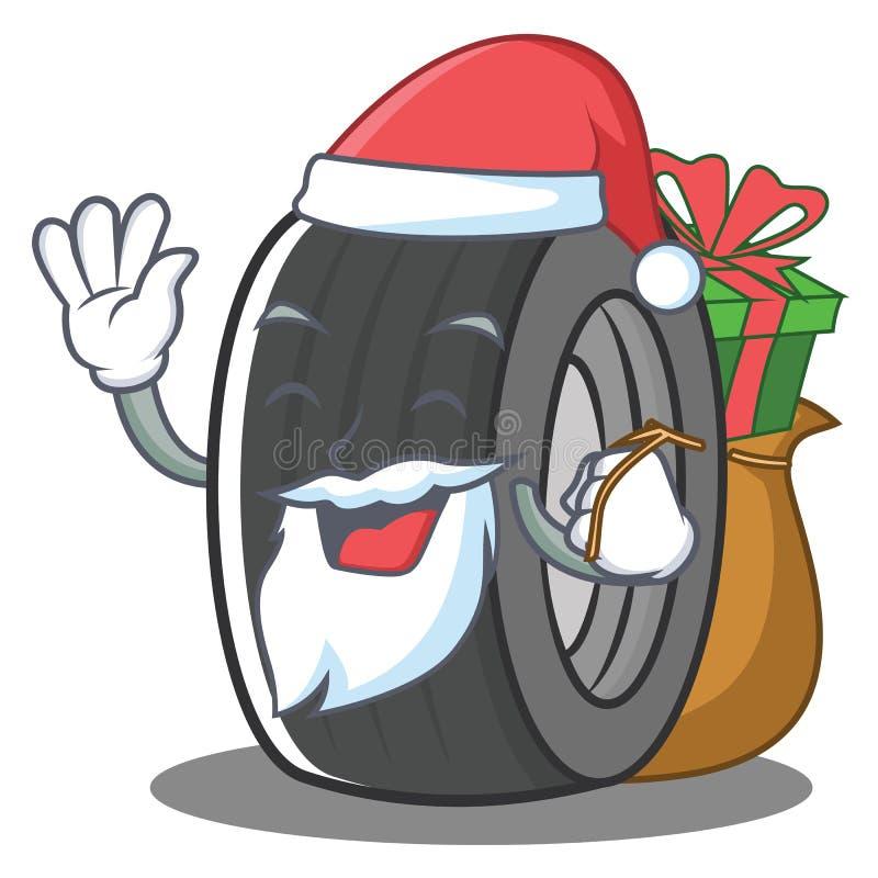 Stile del fumetto del carattere della gomma di Santa illustrazione vettoriale