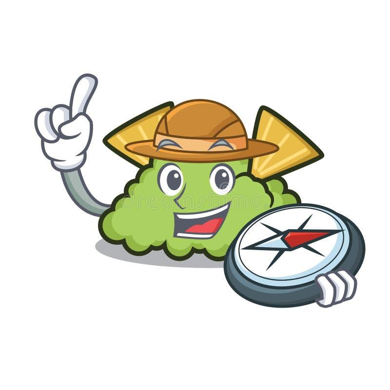 Stile del fumetto della mascotte del guacamole dell'esploratore illustrazione di stock