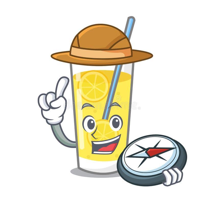 Stile del fumetto della mascotte della limonata dell'esploratore illustrazione vettoriale