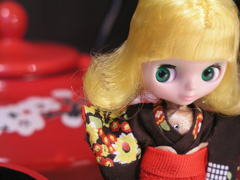 Download Stile Del Giappone Della Bambola Di Blythe Fotografia Stock - Immagine di verde, occhi: 7315534