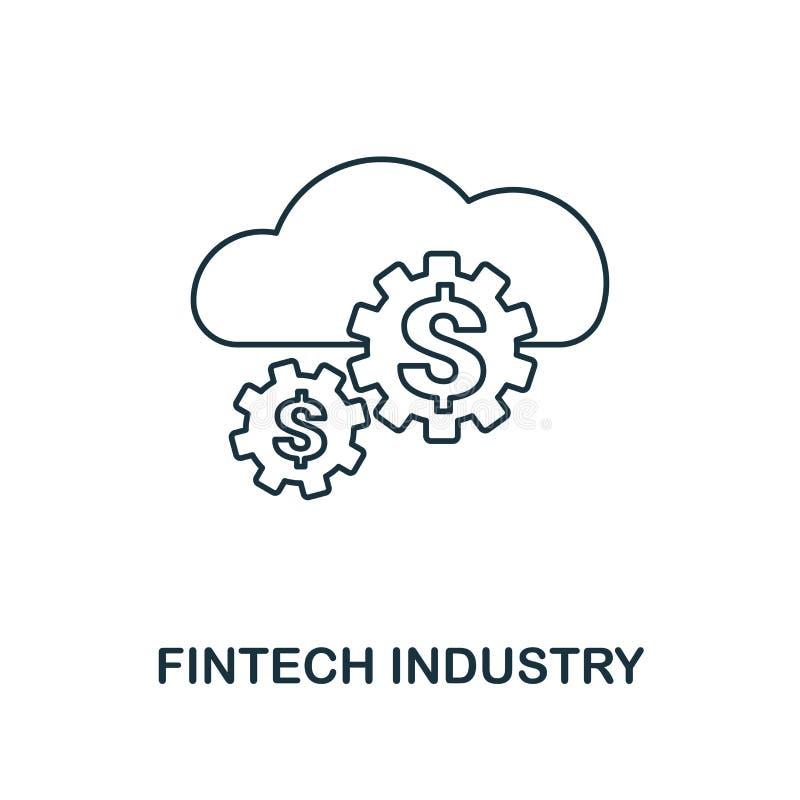 Stile del profilo dell'icona di industria di Fintech Linea sottile progettazione dalla raccolta delle icone del fintech Icona per royalty illustrazione gratis